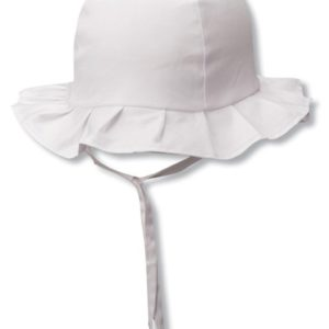 KIDS -COTTON RUFFLE BUCKET WITH STRAP