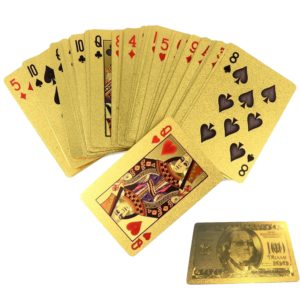 Gold One Hundred Dollar Playing Cards