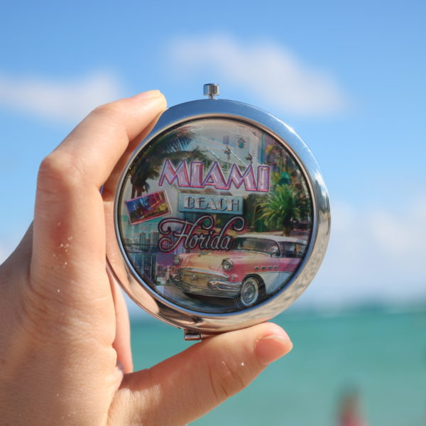 Miami Beach Florida Pocket Mirror