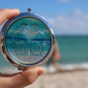 Dolphin Miami South Beach Pocket Mirror