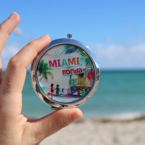 Miami Florida Boy Girl Pocket Mirror