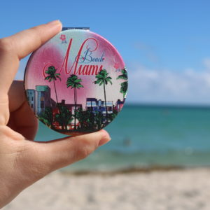 Beach Miami Pocket Mirror