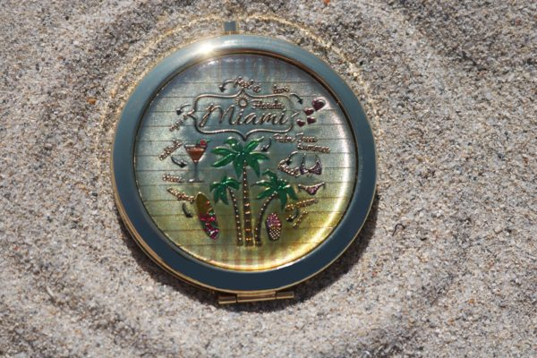 Palm Tree Pocket Mirror