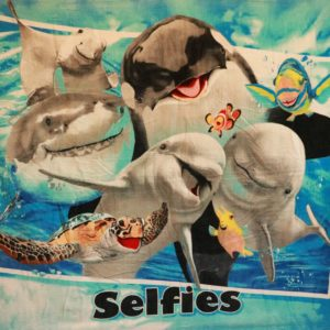 Fish Selfie Beach Towel