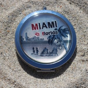 Miami Florida Kiss Pocket Mirror