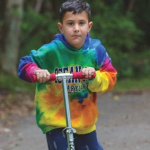 Kids Tye Dye Hooded Sweatshirt
