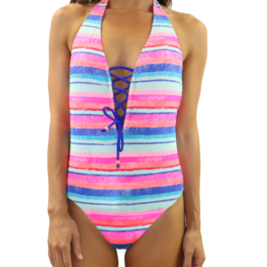 Tie Front One Piece Sun Seeker