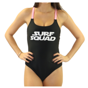 Black Surf Squad One Piece