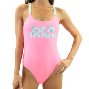 Pink Mint Palm One Piece