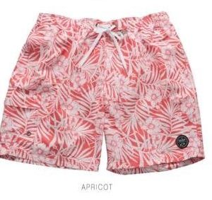 Tropical Printed Apricot Swim Trunks