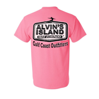 Alvin's Island Surf Company Pink Shirt