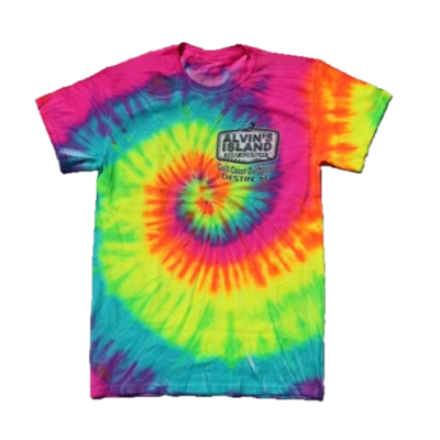 Tie Dyed T-Shirt Pink Yellow Sea Foam