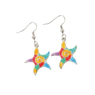 Tie Dye Starfish Earrings
