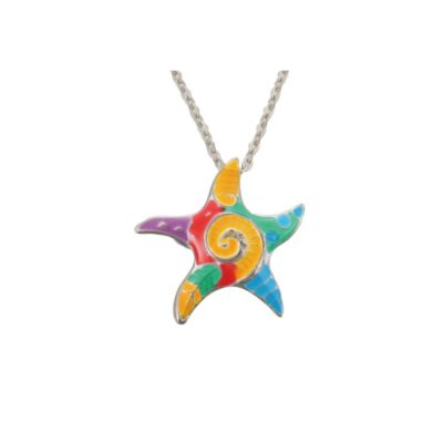 Tie Dye Starfish Necklace