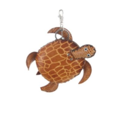 Leather Turtle Key Chain & Coin Purse