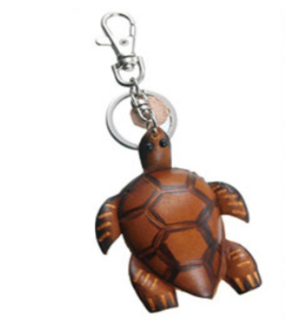 Turtle Leather Key Chain