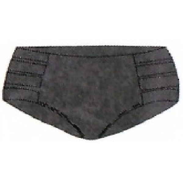Retro High Waisted Bottom Met. Black