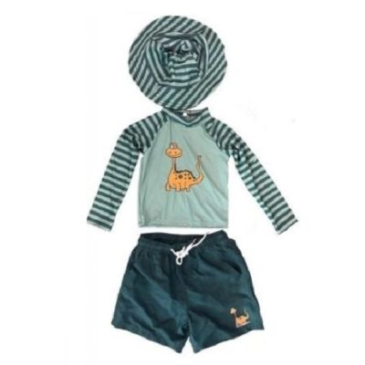 Boy's Toddler Rash Guard Set Dinosaur