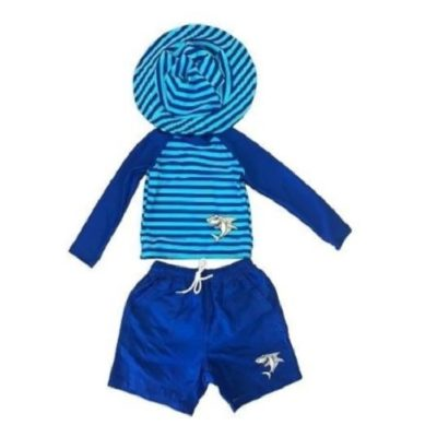 Boy's Toddler Rash Guard Set Shark