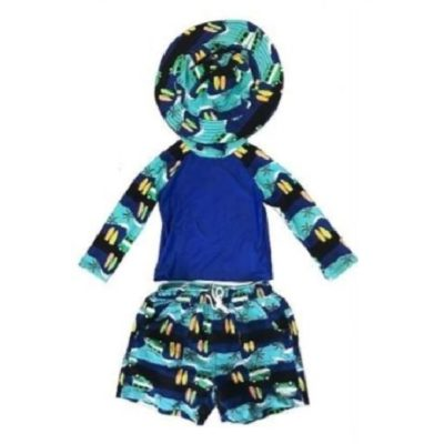 Boy's Toddler Rash Guard Set Surfboard