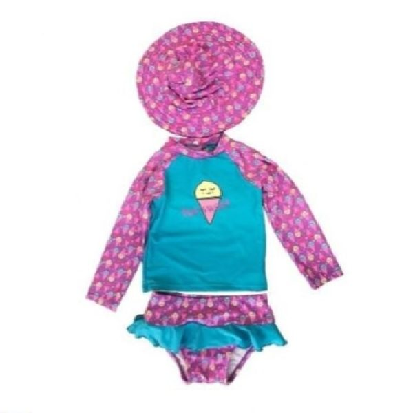 Girl's Toddler Rash Guard Set Too Sweet