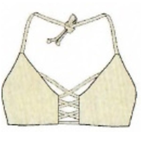 Criss Cross Triangle Top Gold