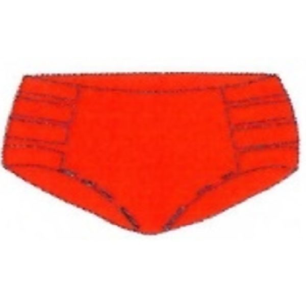 Retro High Waisted Bottom Cherry