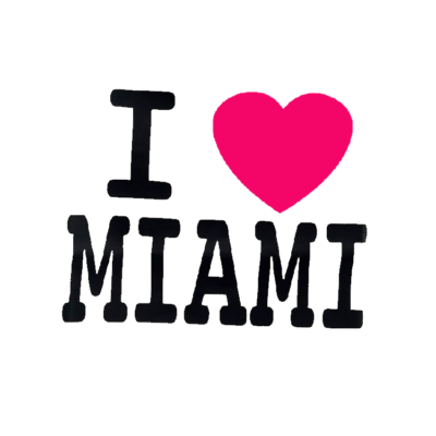 I Heart Miami Toddler Tee White