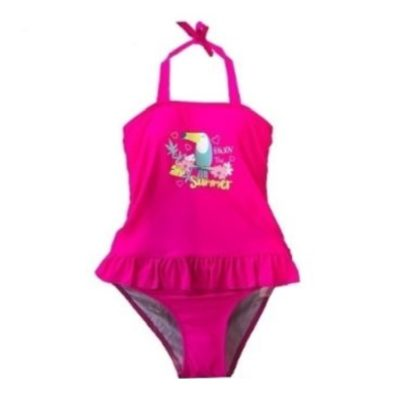 Girl's Pink Toucan One Piece Swim Suit K689-4