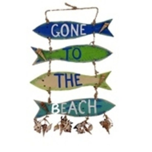 """25"""" Gone to the Beach Fish Sign"""