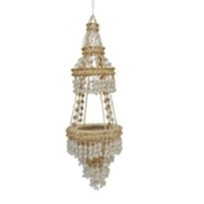 "35"" Shell Two Tier Chandelier"