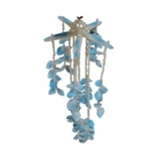 "20"" Blue Finger Starfish Combo Wind Chime"