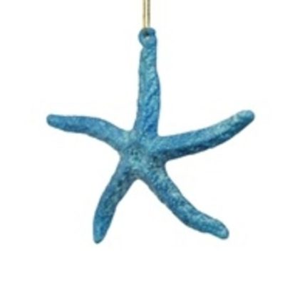 "4-3/4"" Blue Starfish Ornament"