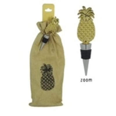 Pineapple Wine Stopper with Bag Set