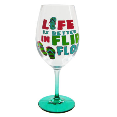 Life Is Better In Flip Flop Wine Glass