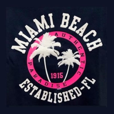 Miami Beach Established-FL Toddler Tee Navy