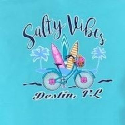 Comfort Color Tee Salty Vibes Destin, FL
