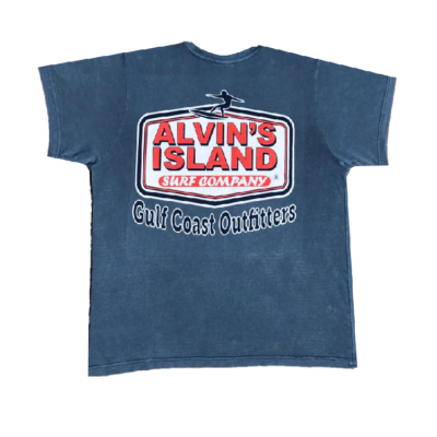 Alvin's Island Gulf Coast Outfitters gray/blue Shirt